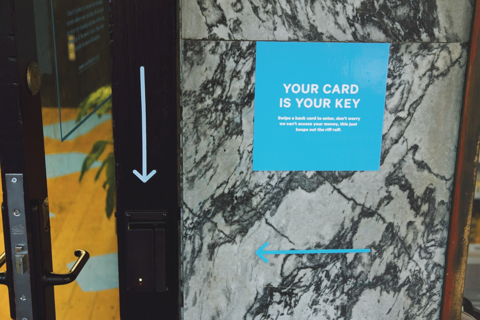 Use your card to open the door at Smart Locker Wellesley St